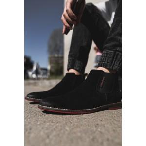 Pánské nasouvací boty v černé barvě