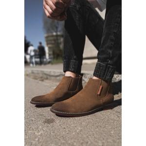 Hnědé pánské přechodné boty