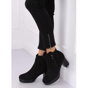 Trendové dámské kotníkové boty na platformě