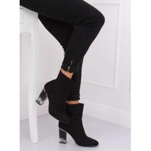Dámské semišové boty v klasické černé barvě