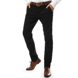 Stylové kalhoty chino v černé barvě