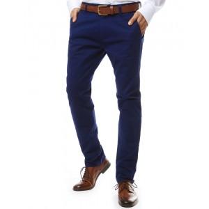 Společenské pánské kalhoty v modré barvě