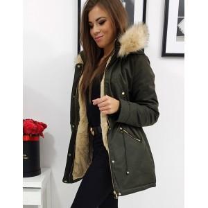 Dámská moderní zimní bunda s kožešinou