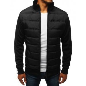 Přechodná pánská moderní bunda v černé barvě