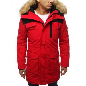 Dlouhá pánská zimní bunda s kožešinou