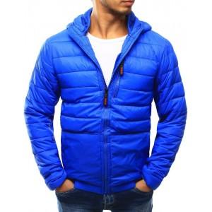 Pánská přechodná bunda modré barvy s prošíváním