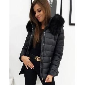 Stylová dámská bunda na zimu s odnímatelnou kapucí
