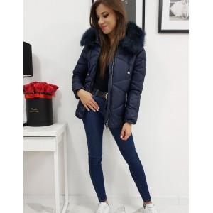 Zimní prošívaná bunda pro dámy v černé barvě
