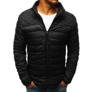 Trendová pánská přechodná bunda černé barvy