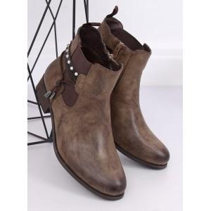 Dámské zateplené podzimní boty s jemnou aplikací