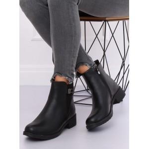Dámské stylové kotníkové boty v černé barvě