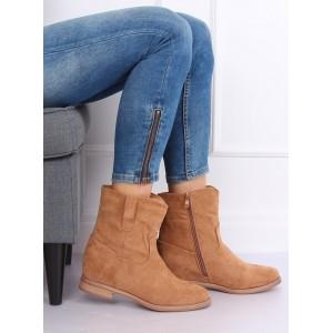 Dámské zateplené boty v béžové barvě