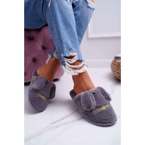 Psí papuče v šedé barvě dámské