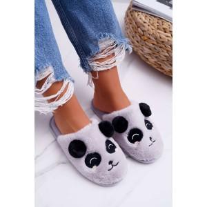 Šedé dámské pohodlné papuče