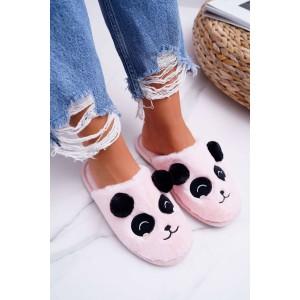 Dámské pantofle v růžové barvě s motivem pandy