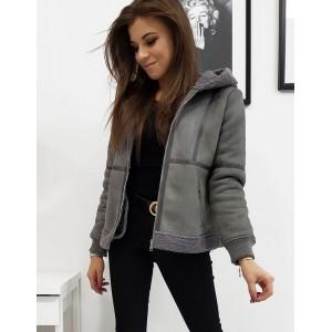 Šedá dámská zimní bunda se zateplením
