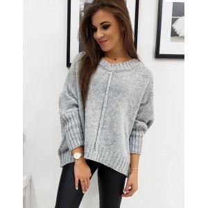 Pletený dámský teplý svetr v béžové barvě
