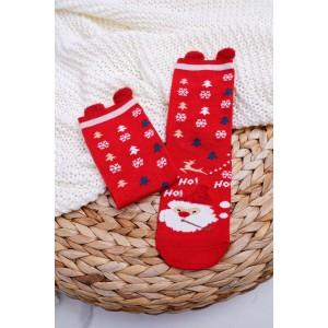 Mikulášské ponožky v červené barvě