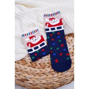Vánoční ponožky s barevnými kuličkami