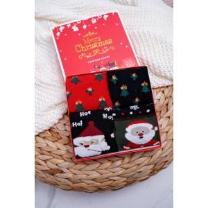 Sada vánočních ponožek v dárkové krabici