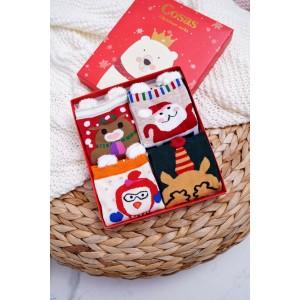 Set ponožek s vánočním motivem pro dámy
