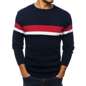 Kvalitní pánský svetr v modré barvě