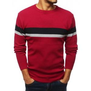 Pohodlný pánský svetr v červené barvě