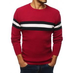 Červený svetr na zimu pro pány