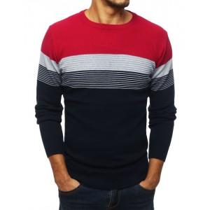 Moderní pánský svetr v bordó barvě
