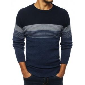 Pánský svetr v modré barvě na zimu
