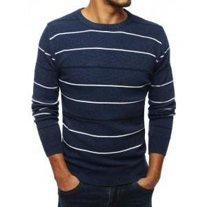 Modrý svetr pro pány na zimu
