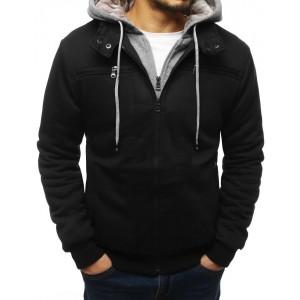 Moderní přechodná bunda pro pány v černé barvě