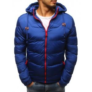 Stylová pánská bunda na zimu v modré barvě