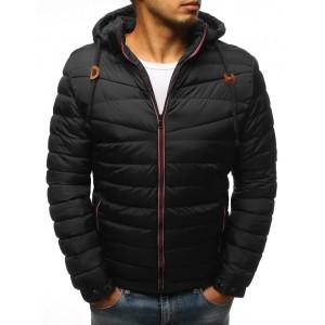 Pánská zimní bunda v moderním provedení v černé barvě