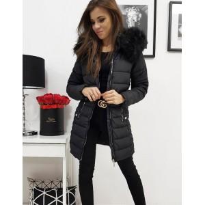 Stylová dámská zimní bunda v černé barvě