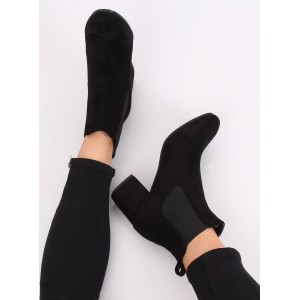 Dámské semišové boty na vysokém podpatku