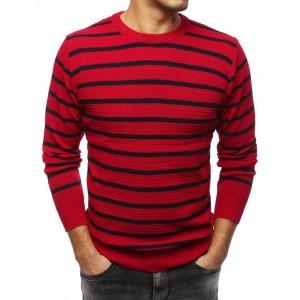 Klasický pánský svetr v červené barvě