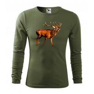 Originální bavlněné tričko s dlouhým rukávem pro vášnivého myslivce