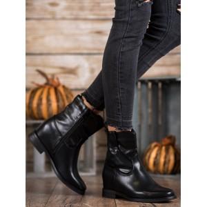 Černé kotníkové boty na zimu
