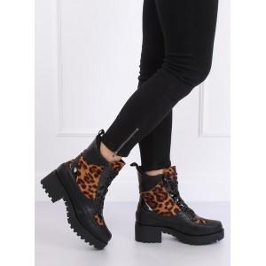 Tygrované dámské boty na zimu