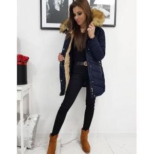 Kvalitní dámská zimní bunda v modré barvě