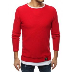Stylový pánský svetr v červené barvě
