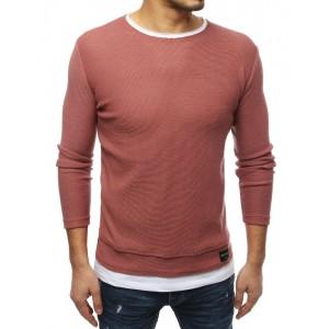 Pánský svetr na jaře v růžové barvě