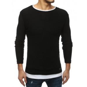 Moderní pánský slim svetr v černé barvě