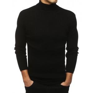 Pánský svetr rolák v černé barvě
