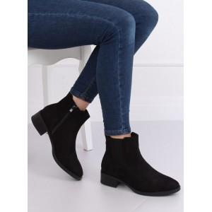 Nízké dámské semišové boty na zimu