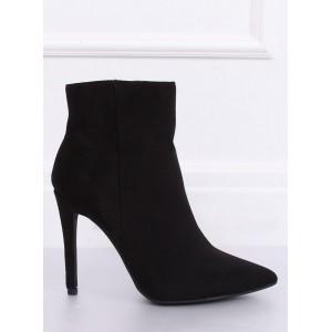 Moderní dámské kotníkové boty v černé barvě