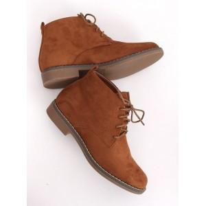 Dámské hnědé boty na vázání