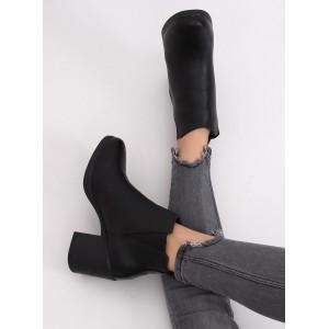Pánské kožené boty na vysokém podpatku v černé barvě