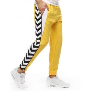 Sportovní pánské tepláky ve žluté barvě